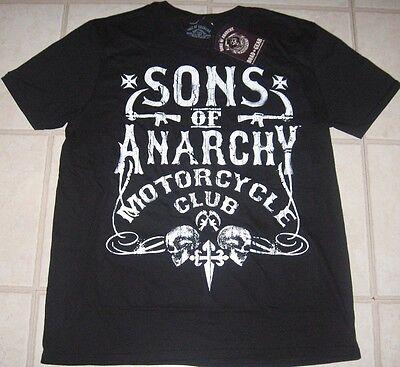 Sons Of Anarchy Motorcycle Club T Shirt Mens S M Medium Black Soa Tv Biker Nwt