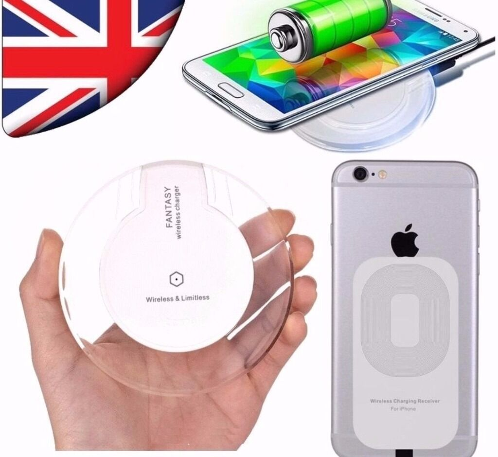 Qi Wireless Charger Led Pad with Charging Receiver for Samsung Galaxy S5