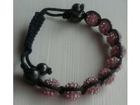 Bracelet With Pink Sparkly Balls