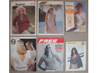 6 vintage 1970s/80s knitting patterns - women's tops. £5 the lot or £1 each.