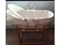 Mothercare Rocking stand and Moses basket