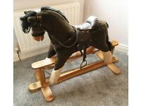 MAMAS & PAPAS TRADITIONAL VINTAGE WOODEN ROCKING HORSE RRP £399 EXCELLENT CONDITION