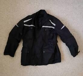 Men's Motorbike Waterproof Armoured Jacket - Long