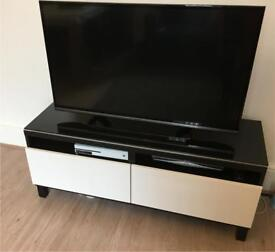 Besta Gloss Black Top Panel for TV Unit from Ikea