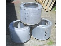 Upcycled washing machine drums Ideal Fire Pit or BBQ, also can be used with a wok £10
