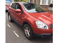 Nissan Qashqai 2007 Orange,1.5 L Diesel, Full year MOT 20/10/17, 68k miles, panoramic sunroof