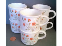 vintage pyrex coffee mugs
