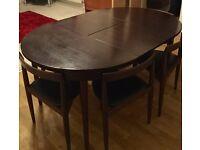 Vintage Danish Hans Olsen for Frem Rojle extending table and 6 chairs.