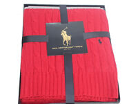 Polo Ralph Lauren Home Cable Throw red gift box JK20