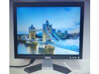 "Dell 17"" LCD MONITOR 1280x1024 VGA GRADE B FOR PC CCTV"