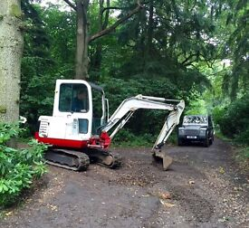 Groundworks,digger hire,grab hire,drainage,foundations,land clearance