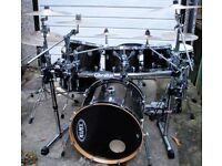 Full Mapex Horizon HZB drum kit & Cymbals, Gibraltar rack, 2 snares, Double pedal, Meinl, Pearl etc
