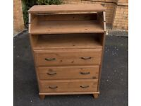 Solid wood changing table - can be used as standard chest of drawers