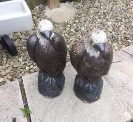 Pair of Decorative Garden Eagles