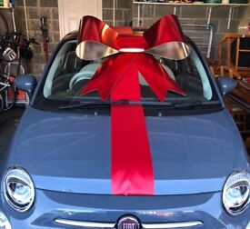 Big red or silver bow for car