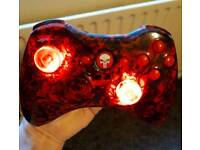 Xbox 360 controller skull theme with custom Leds fitted