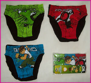 BEN 10 - 3 Pack BOYS BRIEFS Size 6 - 8  UNDERWEAR Undies Awesome Ben10 - NEW
