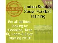 Starting 2018 Ladies Sunday Social Football Training For All Abilities. Book Your Space.