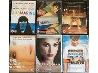 DVD Films Bundle: Black Swan, Submarine,Lost in Translation,500 days of summer,Virgin Suicides,Skins