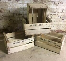 Rustic Fruit Crates