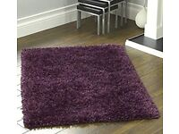 Plum coloured Ribbons Shaggy Rug. 120×170 RRP £70