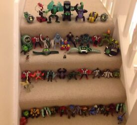 Large Collection of Ben 10 Figures