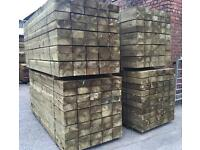 🌲Pressure Treated Timber/ Wooden Railway Sleepers * Various Sizes 🌳