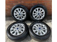 16'' GENUINE FORD TRANSIT CUSTOM ALLOY WHEELS TYRES ALLOYS 5X160 DELIVERY MILES