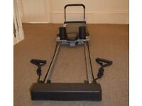 Aero Pilates machine as seen on QVC with air trampet and 3 dvds