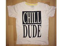 Children's chill dude t shirt 12-13