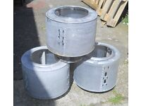Upcycled washing machine drums Ideal Fire Pit or BBQ, also can be used with a wok