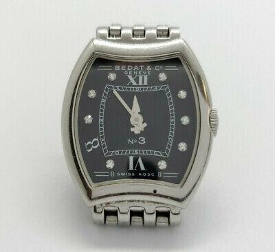 Bedat & Co. No.3 Black Diamond Dial Stainless Steel Ladies (Bedat Diamond Watch)