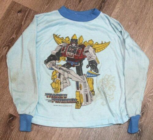 RARE Vintage 80s 1984 Transformers Promo Sleep Shirt Youth Size 8-10