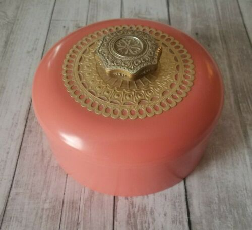 Vintage Avon Unforgettable Beauty Dusting Powder Container w/Puff EMPTY