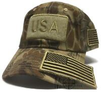 d0089915445 USA Flag Highlander Detachable Patch Hat Tactical Operator Military Cap  America
