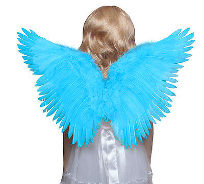 Childrens Butterfly Style costume feather angel wings avaiable black white blue - Black And White Angel Wings