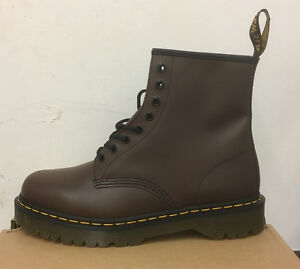 DR. MARTENS 1460  BROWN SMOOTH    LEATHER  BOOTS SIZE UK 9