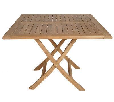 Kmh Teak Gartentisch 100x100 Tisch Klapptisch