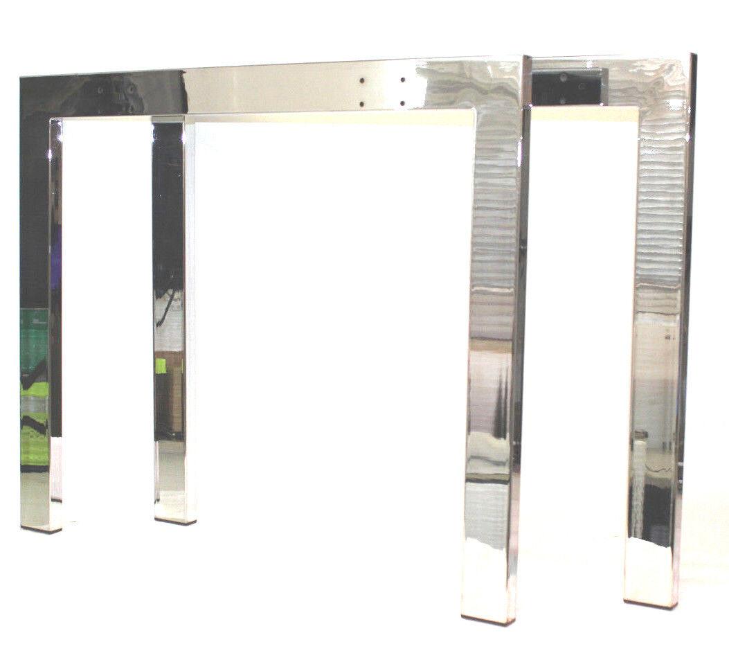 1 Paar Tischgestell Tischgestelle Tischfuß Tischbein Tischbeine Tischkufen chrom