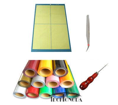 10ft T-shirts Pu Vinyl A3 Cutting Mat Drill Tweezer Diy Crafts Heat Transfer Kit