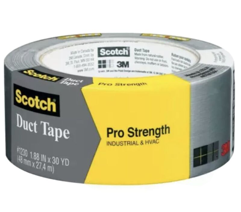 Scotch Pro Strength Duct Tape 3M 1230-A 1.88  30 Yards Industrial & HVAC Silver