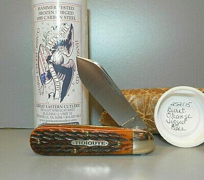 Great Eastern GEC 252115 BARLOW Burnt Orange Jig Bone Pocket Knife NMIT Free S+H