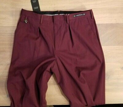 NWT $650 PT01 WOOL ARMY INSPIRED OF PT05 COHEN 35 BURGUNDY