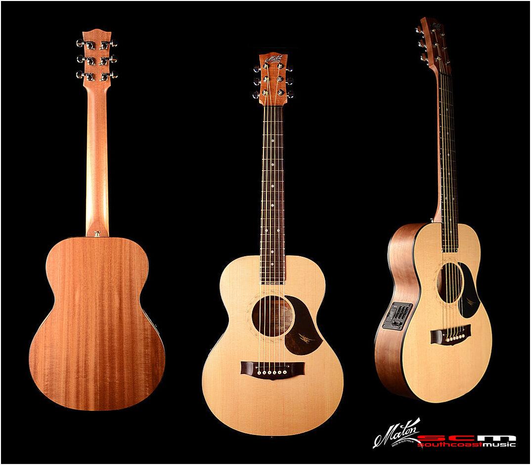 brand new mini maton eml6 travel size australian made acoustic electric guitar ebay. Black Bedroom Furniture Sets. Home Design Ideas