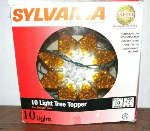 SYLVANIA 10 LIGHT TREE TOPPER IN ORIGINAL BOX
