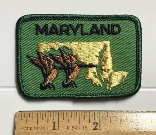 Maryland Flying Geese Goose MD Souvenir Embroidered Patch Badge