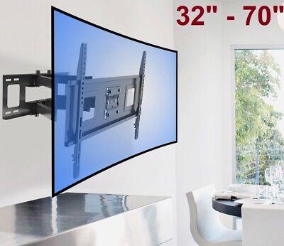 Curved UHD ULED TV Wall Mount Swivel LCD LED Full Motion 40 42 48 50 55 60 65 70