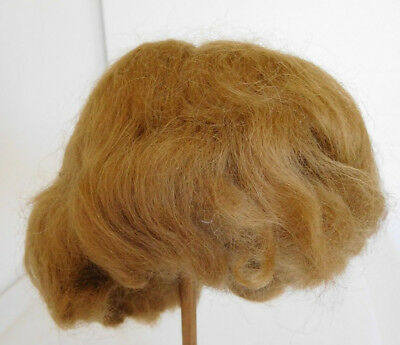 Mohair Doll Wig Old Store Stock Vintage Dark Blonde Synthetic Size 10 USA