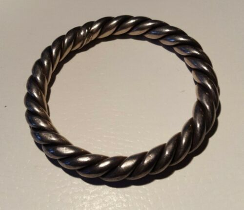 Large Twisted Rope Heavy  Bracelet stamped sterling 925