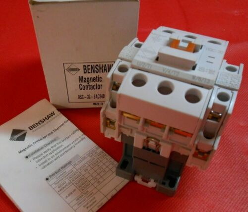 BENSHAW  RSC-32-6AC240  MAGNETIC CONTACTOR - NEW IN BOX